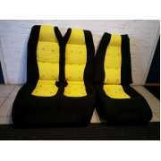18001 -  black - canary yellow Matra Bagheera interior