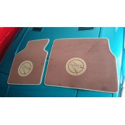 25003BC2 - Matra Murena mat with Sports logo in brown - cream color