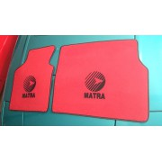 25003BR2 - Matra Murena mat with Sports logo in black - red color