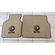 25003BC3 - Murena mattenset met Matra Sports logo in zwart - crème kleur 25003BC3 - Matra Murena mat with Sports logo in black - cream color