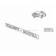 14072 - Sticker behind  panel Matra Murena - 1.6 - 2.2 -Black
