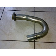 24111 - Murena 180 curve pipe + flange - stainless steel